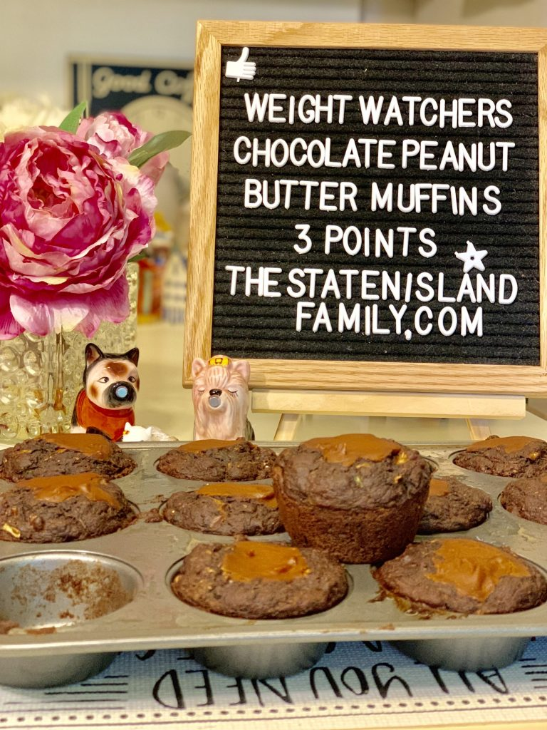 Weight Watchers Chocolate Peanut Butter Muffins - Just three points each