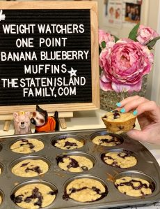 Weight Watchers Banana Blueberry Muffins - just one point per muffin