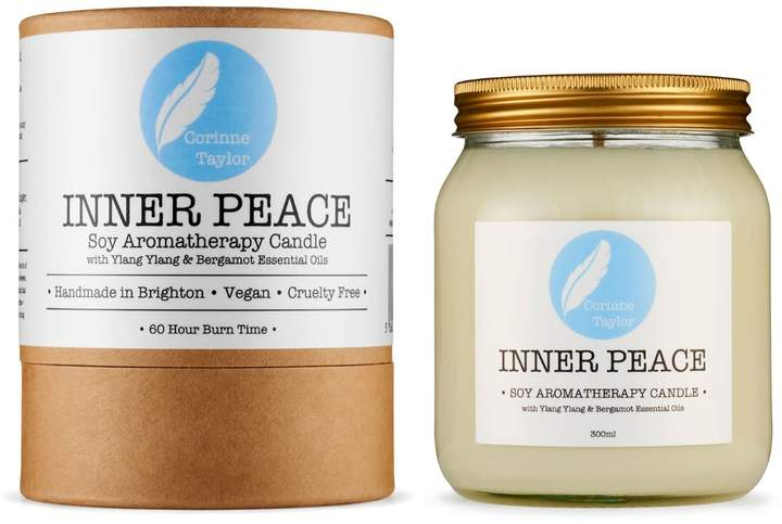 A calming, relaxing aroma, rich with floral and citrus notes. Our all natural Inner Peace Soy Aromatherapy Candle is made with essential oils of Bergamot & Ylang Ylang to bring in relaxation, tranquility and calm.