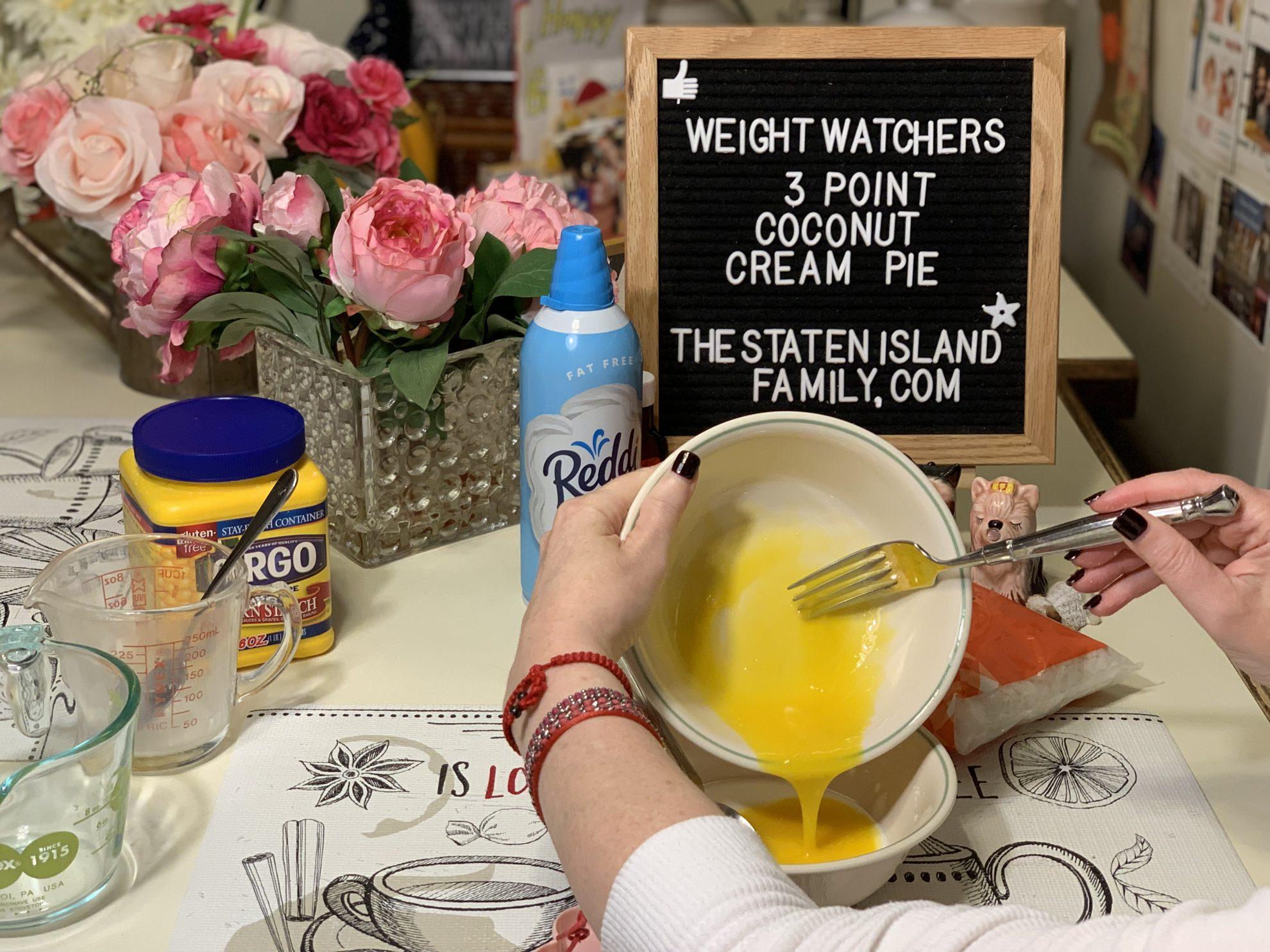 Weight Watchers Coconut Cream Pie - Just three points per serving