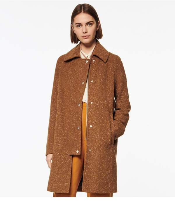 Andrew Marc Shiloh Tweed Wool Car Coat