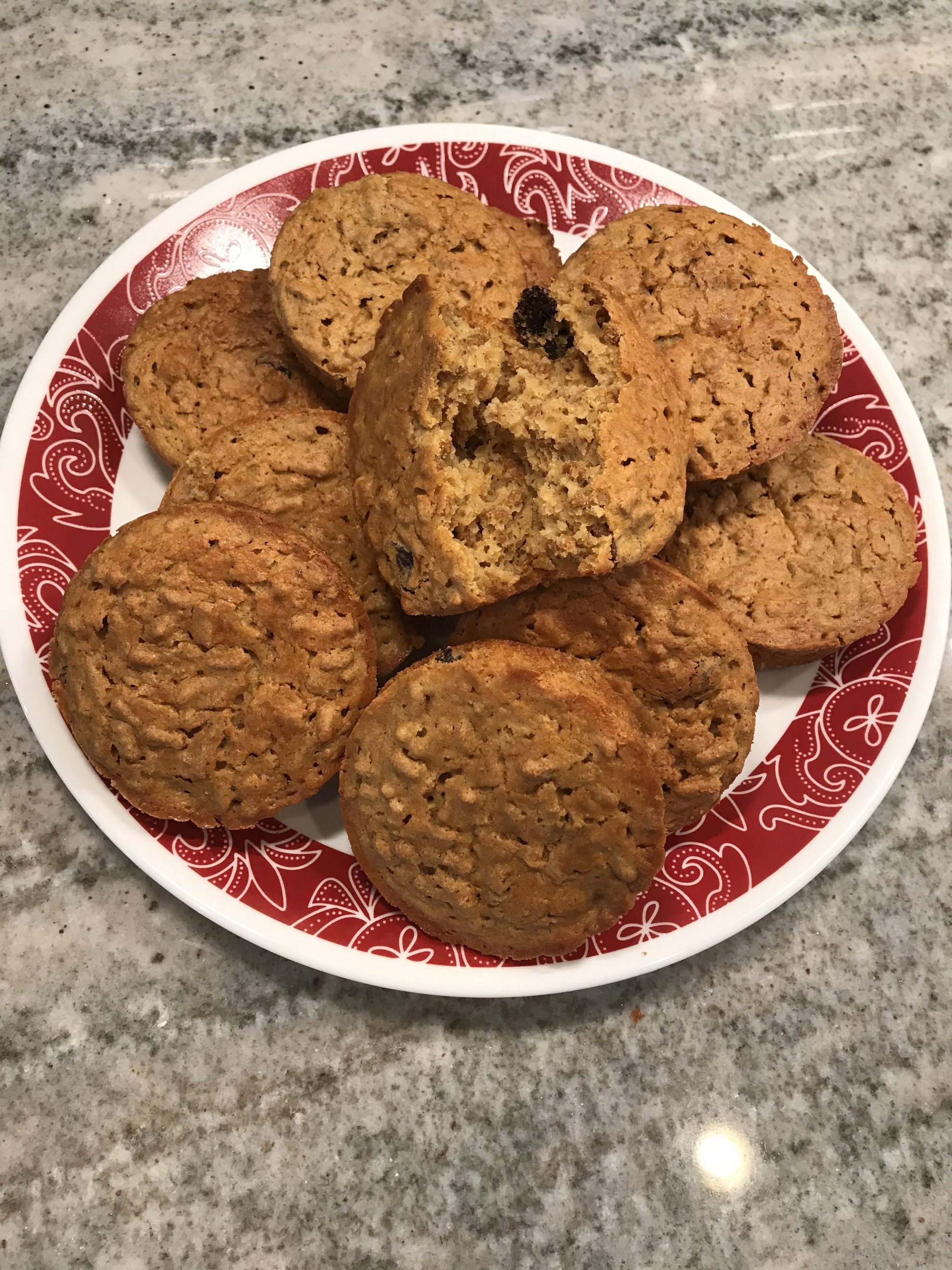 Weight Watchers Fiber One Raisin Bran Muffins are three points per muffin.