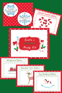 Santa's Workshop Printable Party Kit