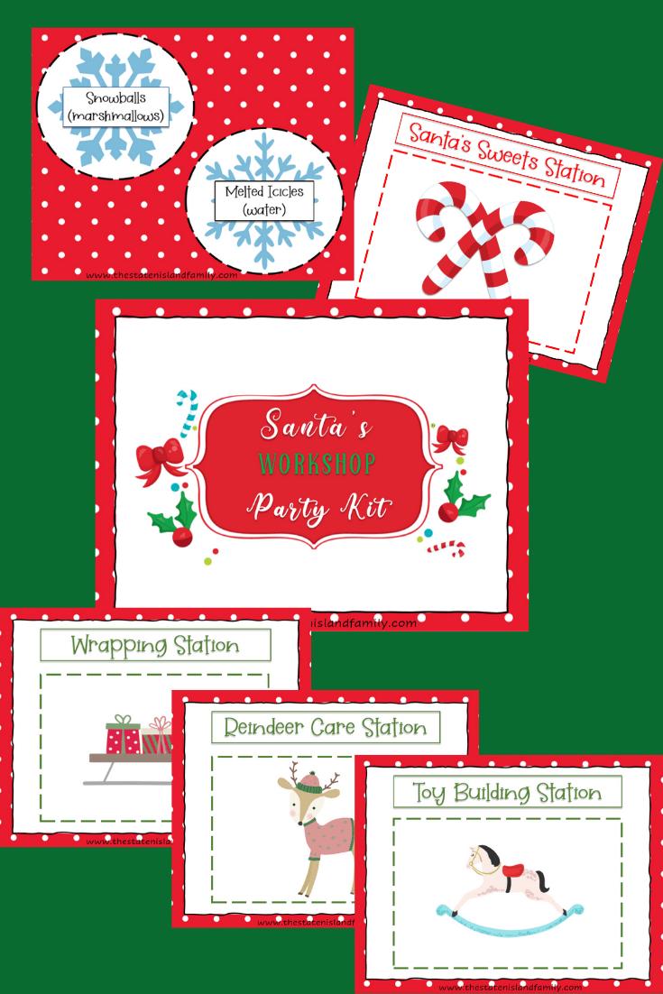 Santa's Workshop Printable Party Kit