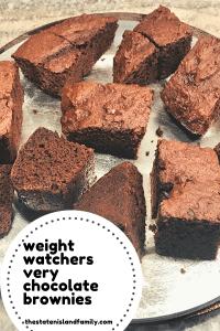 Weight Watchers Very Chocolate brownies