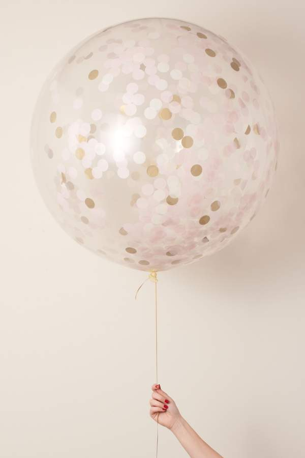 This jumbo balloon is filled with tissue paper confetti to make a statement at any celebration!