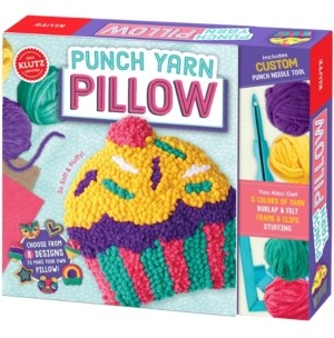 Craft your very own decorative pillow with Klutz! Choose from eight fun designs, and then use our yarn and custom punch-needle tool to create a super-soft pillow top. Add stuffing, sew it up, and you're done! The book comes with everything you need for this craft, including crystal-clear, step-by-step instructions.