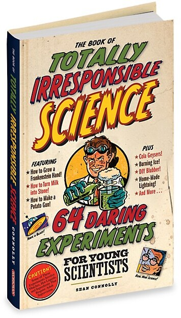 This book of 64 daring experiments for young scientists includes experiments with objects around the house.