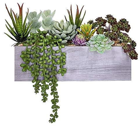 This Wooden Planter Gardening Box is an inexpensive way to update your interior Decor with minimal effort!