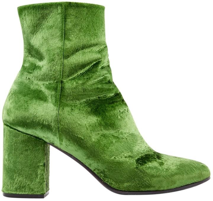 Balenciaga Green Velvet Ankle boots