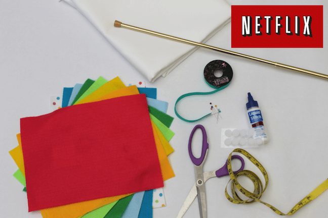 DIY no sew stage curtain