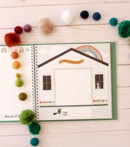 This rainbow-themed modernbabybookgives you a simple (and beautiful!) way to document all the darling moments of Baby's first year, perfect for your little rainbow!