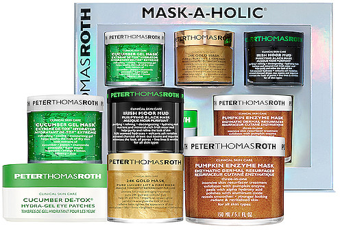 Peter Thomas Roth Mask-A-Holic Kit in Beauty: NA. It's time to multi-mask. Peter Thomas Roth Mask-A-Holic is a 5-piece kit is packed with cult-favorite masks for every skin concern.