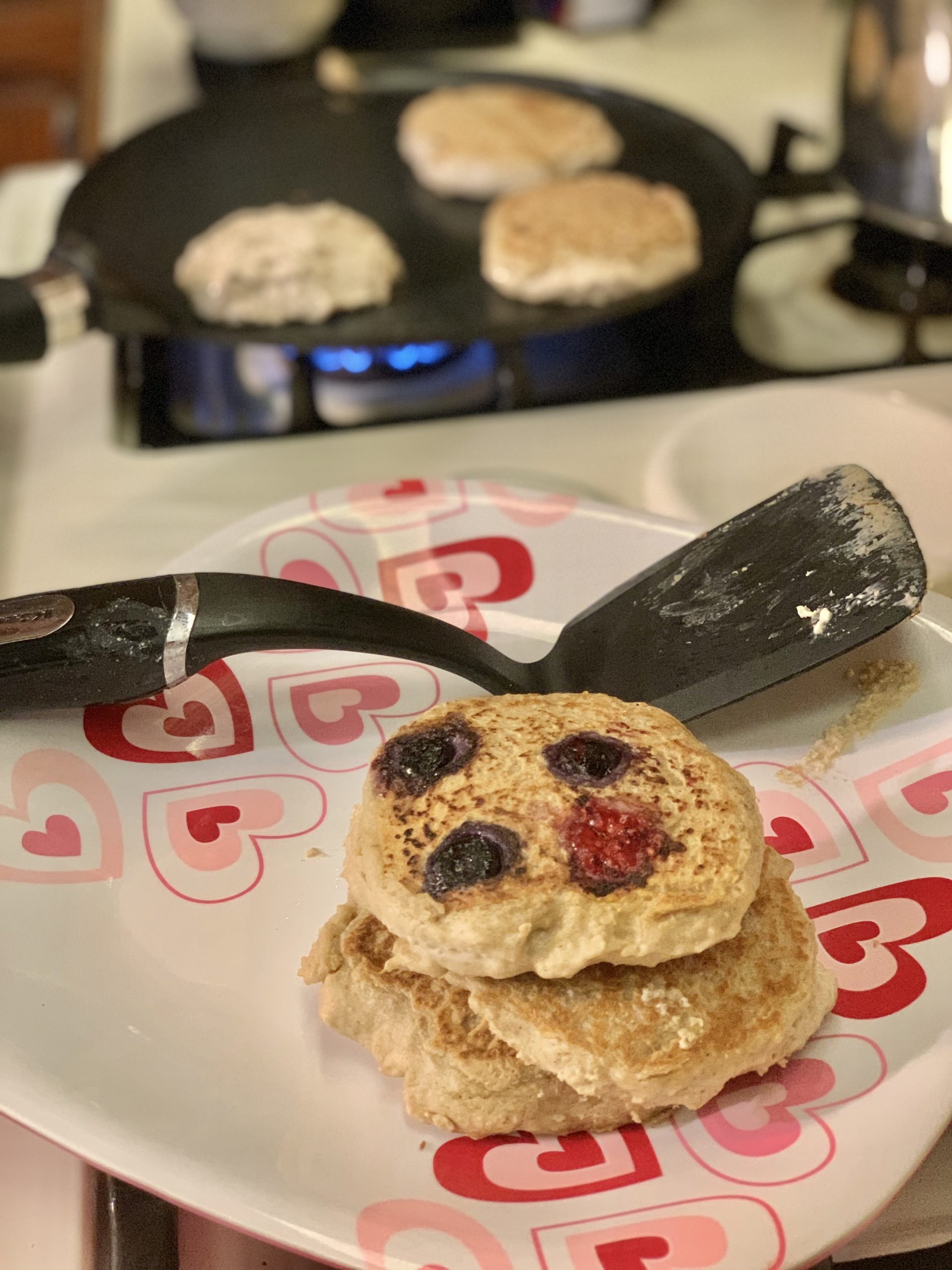 Easy Like Sunday Morning Oatmeal pancakes -just two points each on a Weight Watchers Blue