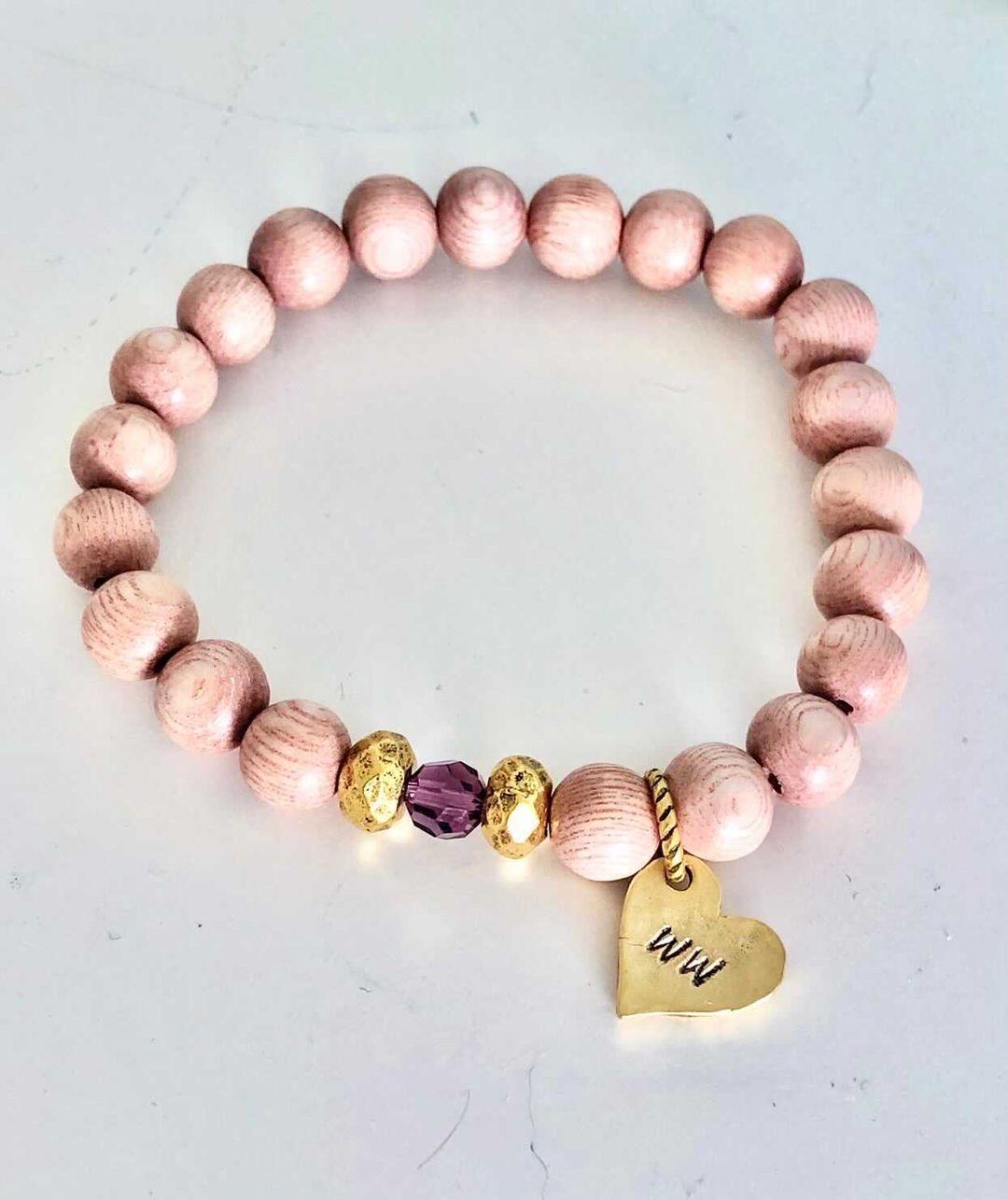 Weight Watchers Wood Bracelet with Custom Crystal