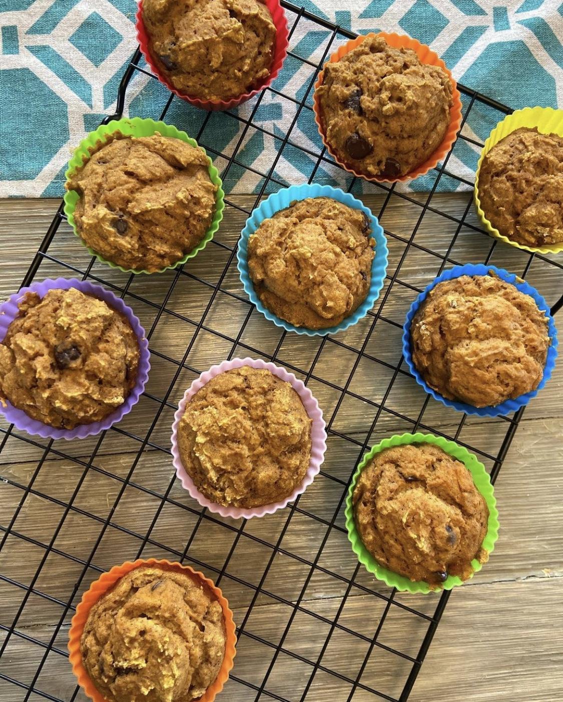 Weight Watchers Chocolate Chip Pumpkin Muffins - two points each