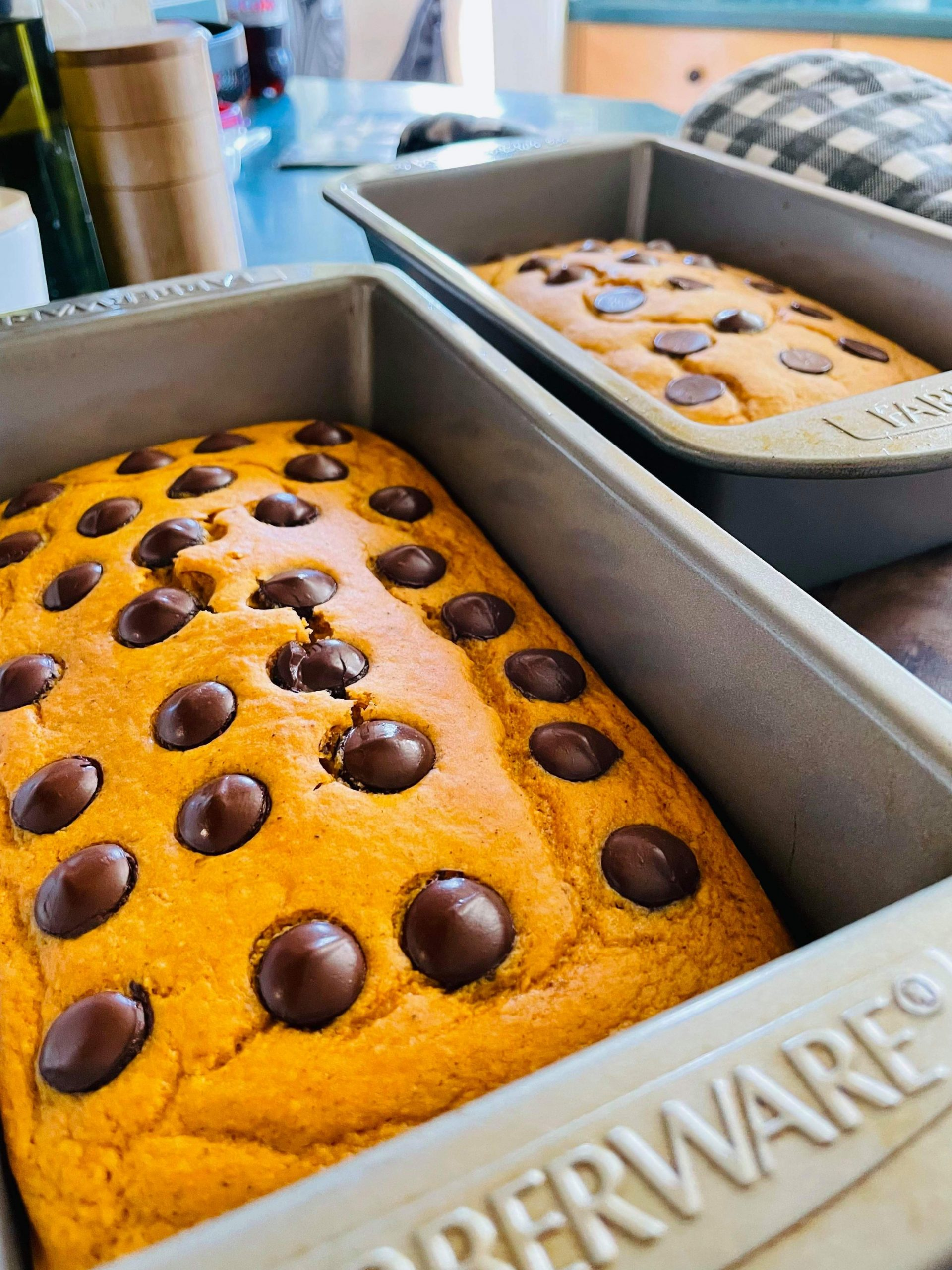 Chocolate Chip Pumpkin Loaf Cake- Three points per serving on Weight Watchers Blue and Purple plans