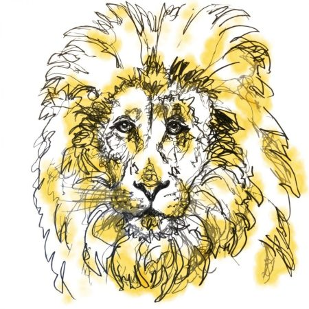 The Steel Rooms Lion Card by Emma Roberts