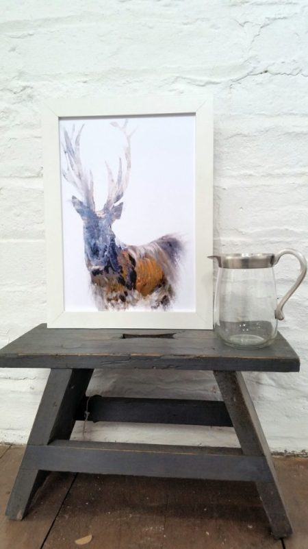 Julie Steel Stag Print The Steel Rooms