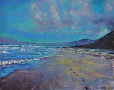 an introduction to acrylics part 3 painting a beach scene