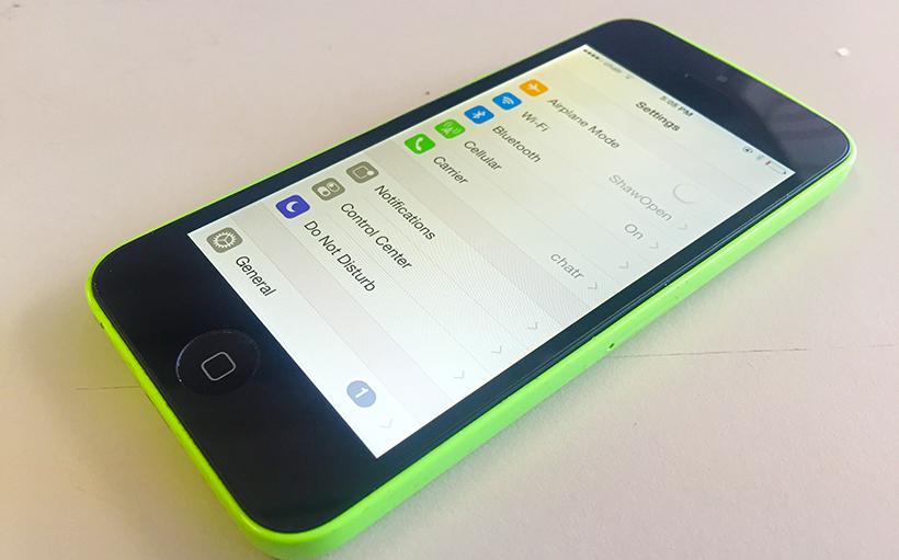 fixed iPhone 5c