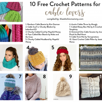 10 Free Crochet Patterns for Cable Lovers!