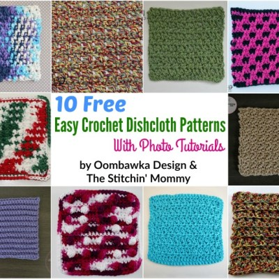 10 Free Easy Dishcloth Patterns with Photo Tutorials