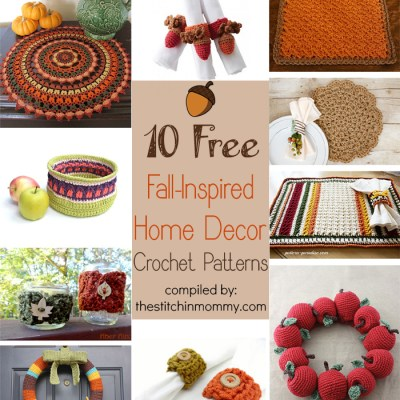 10 Free Fall-Inspired Home Decor Crochet Patterns