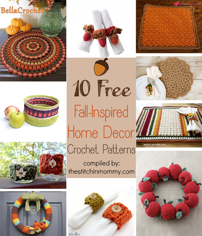 10 free fall inspired home decor crochet patterns the stitchin mommy Crochet home decor pinterest
