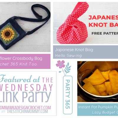 The Wednesday Link Party 365 featuring the Sunflower Crossbody Bag