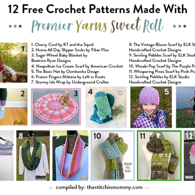 12 Free Crochet Patterns Made With Premier Yarns Sweet Roll