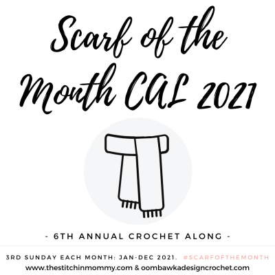 Announcing the 2021 Scarf of the Month CAL!