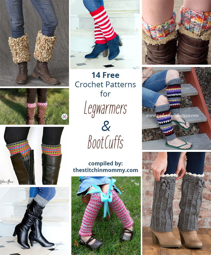 14 Free Crochet Patterns For Legwarmers And Boot Cuffs The