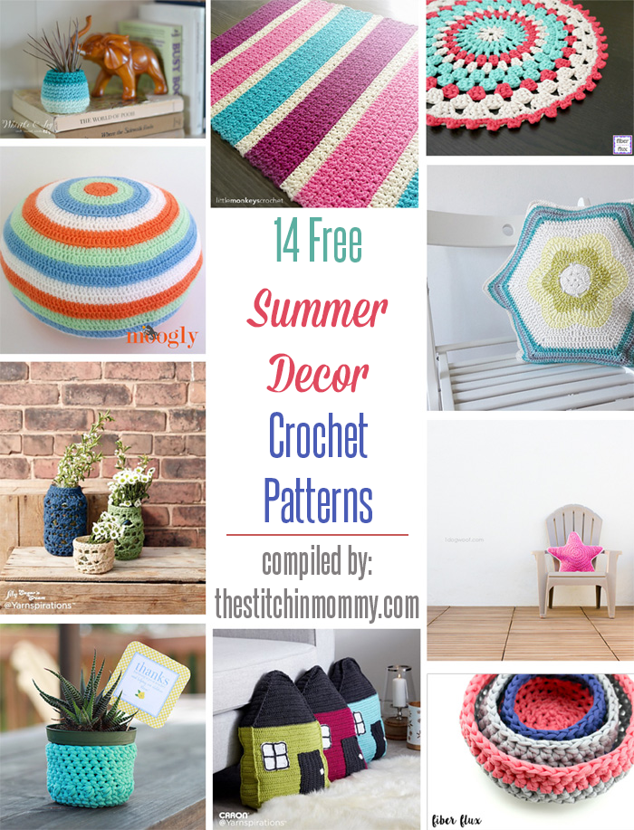 14 Free Summer Decor Crochet Patterns The Stitchin Mommy