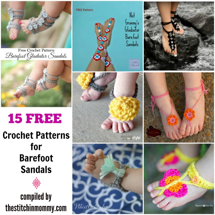 15 Free Crochet Patterns For Barefoot Sandals The Stitchin Mommy