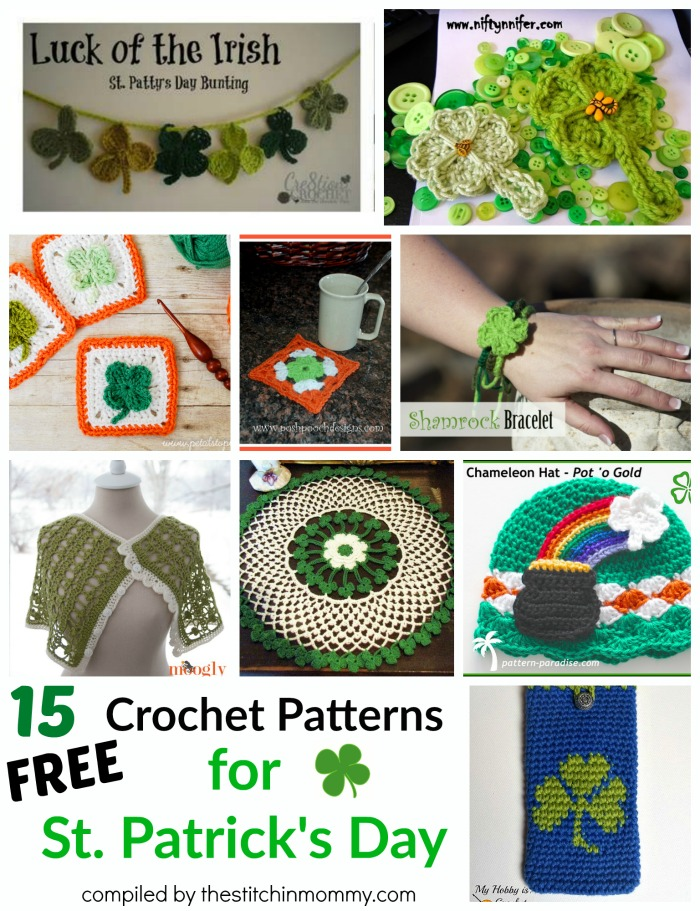 15 Free Crochet Patterns For St Patricks Day The Stitchin Mommy