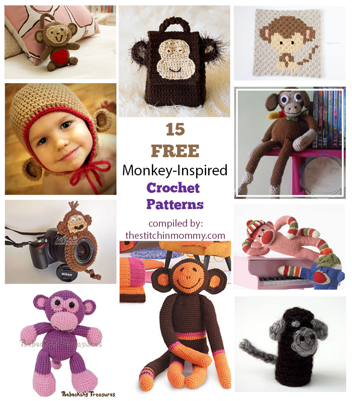 15 Free Adorable Monkey Inspired Crochet Patterns The Stitchin Mommy