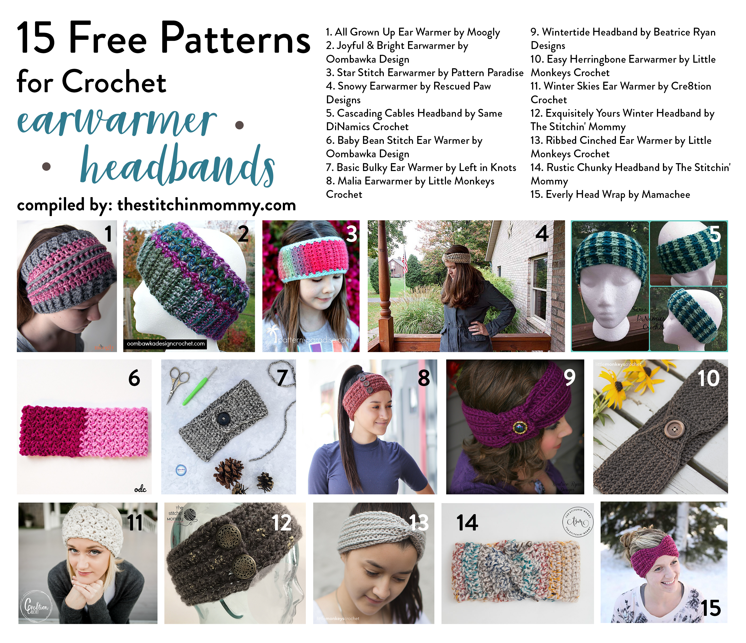 15 Free Patterns For Crochet Earwarmer Headbands The Stitchin Mommy