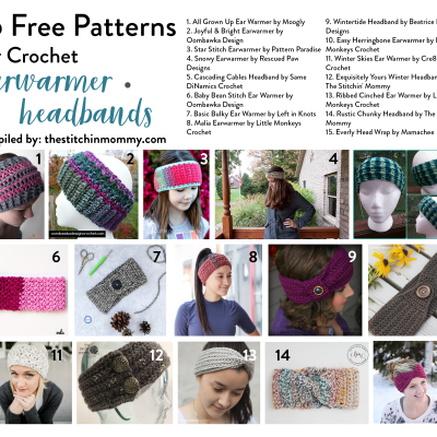 15 Free Patterns for Crochet Earwarmer Headbands