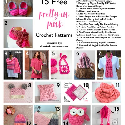 15 Free Pretty In Pink Crochet Patterns