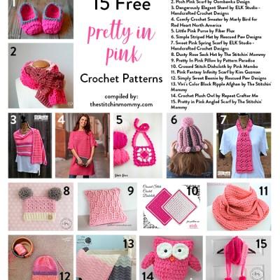 15 Free Pretty In Pink Crochet Patterns