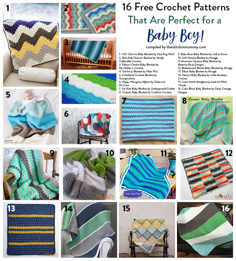 16 Free Crochet Blanket Patterns That Are Perfect For A Baby Boy
