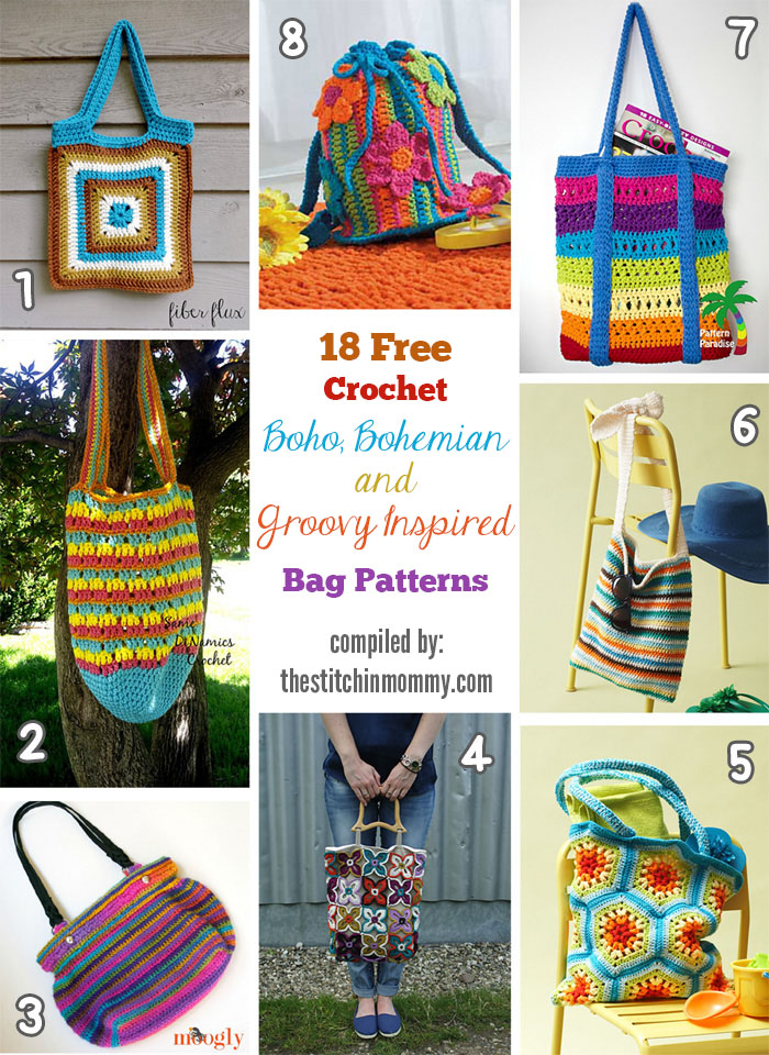 Bohemian Rainbow Design Drawstring bag