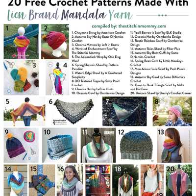 20 Free Crochet Patterns Made With Lion Brand Mandala Yarn