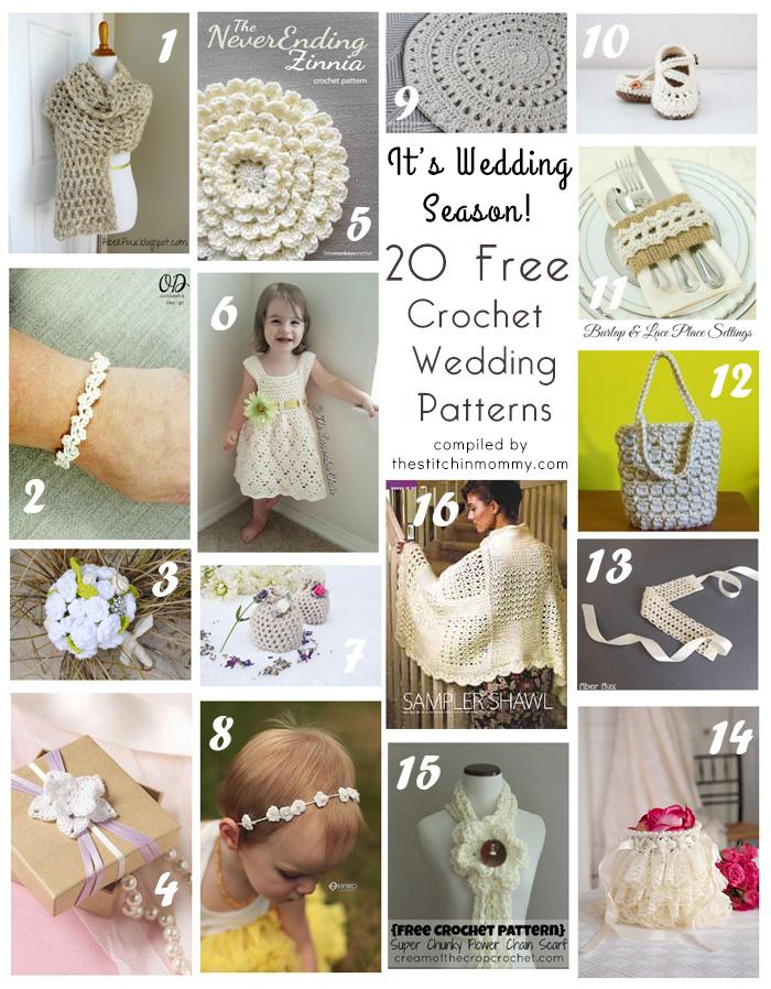 Its Wedding Season 20 Free Crochet Wedding Patterns The Stitchin