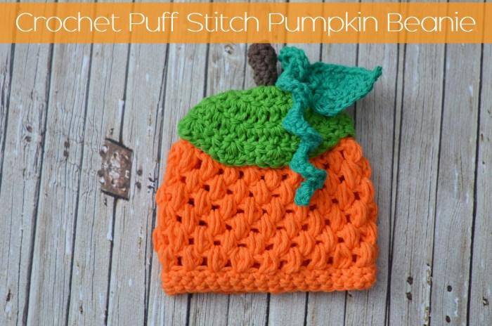 Crochet Puff Stitch Pumpkin Beanie Free Pattern The Stitchin Mommy