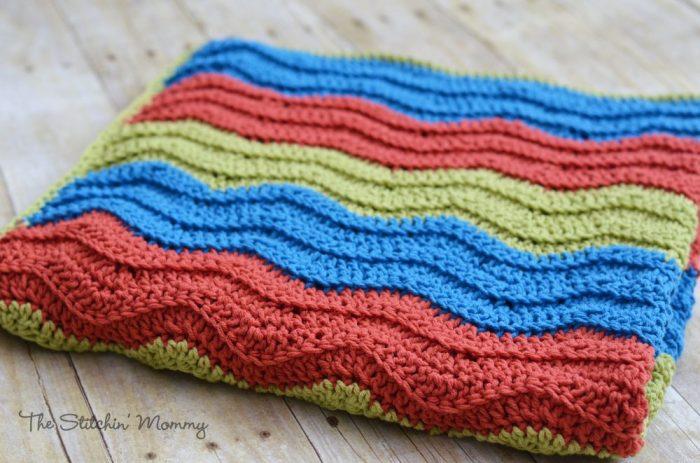 Easy Crochet Ripple Blanket The Stitchin Mommy