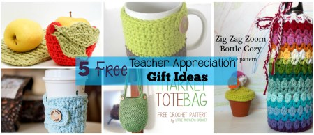 5 Free Crochet Teacher Appreciation Gift Ideas - www.thestitchinmommy.com