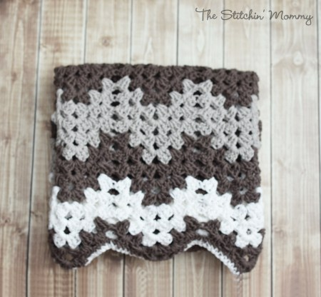 Crochet Granny Ripple Baby Afghan www.thestitchinmommy.com