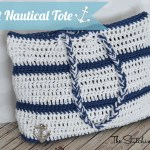 Crochet Nautical Tote
